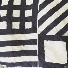 "Black And White Print Vera Newman 1970's Vintage Scarf 24""/24"" - City Girl Barn Treasures"