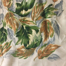 "Large Hand Rolled Silk Green And Brown Floral Print Vintage Scarf 30""/30"" - City Girl Barn Treasures"