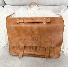 Vintage Classic KH Veritable Tan Leather Sachle Messenger - City Girl Barn Treasures