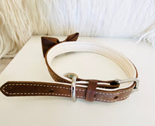 Martha Stewart Brown Leather Dog Collar Sz Medium - City Girl Barn Treasures