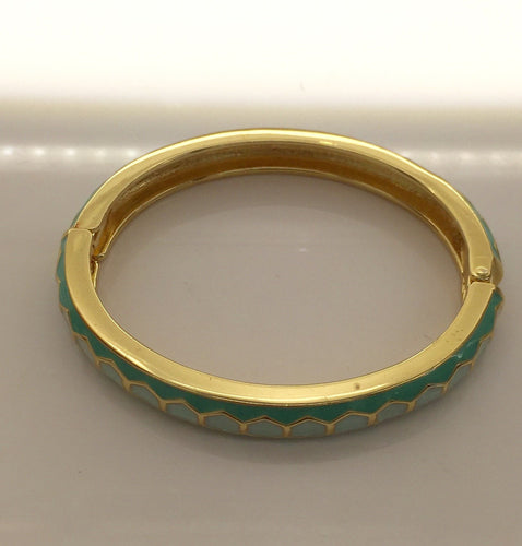 Clic Clac Inspired Turquois Enamel Bangle 3/8
