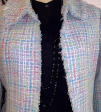 Lea Rome Knee Length Boucle Jacket  Made In France Sz 42 - City Girl Barn Treasures