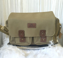 Jordache Canvas And Leather Satchel Messenger Bag - City Girl Barn Treasures
