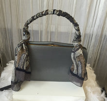 1940's-60's  Grey Patent Leather Top handle Frame Hand Bag - City Girl Barn Treasures
