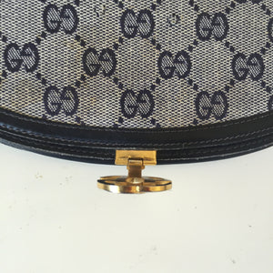 Navy Blue Gucci Vintage Monogram GG Wallet - City Girl Barn Treasures