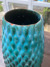 Large Textured Blue Mountain Pottery Vase Rare - City Girl Barn Treasures