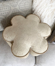 Antique Flower Shaped Ottoman Foot Stool early 1900's Victorian - City Girl Barn Treasures