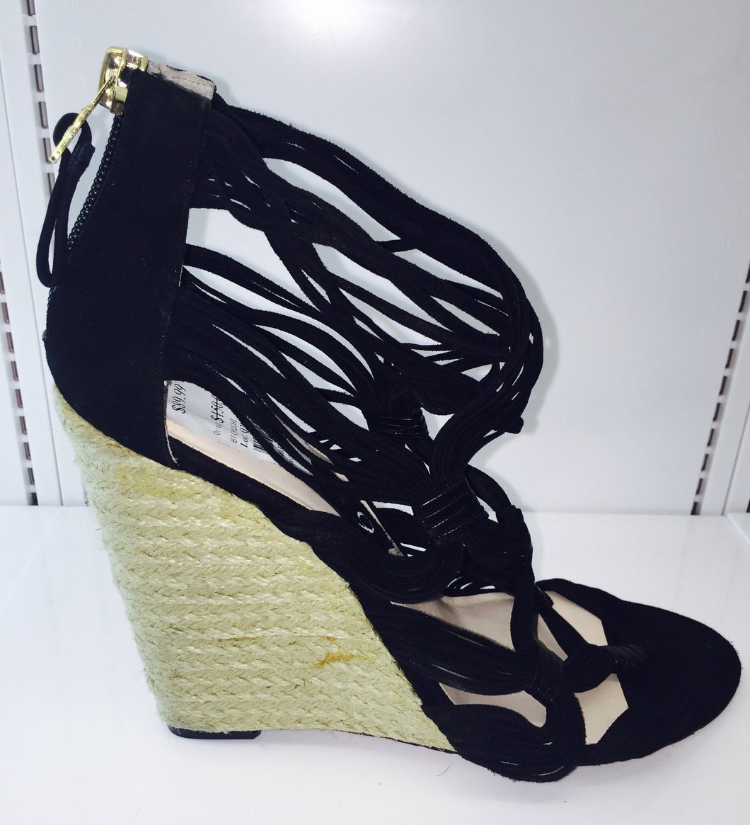 Nine West Boutique 9 Strappy Wedge (black) - City Girl Barn Treasures