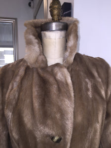 Sterling Stall Below The Knee Fun Fur And Leather Detail Coat - City Girl Barn Treasures