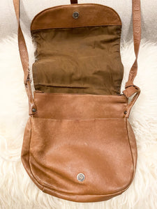 1970's Distressed Handmade Brown Leather Cross Body Bag $29.99 - City Girl Barn Treasures