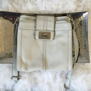 Tignanello Pale Grey Cross Body Bag - City Girl Barn Treasures