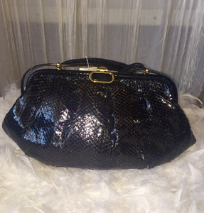 Rare Vintage Linea Giemme Italy Genuine Snakeskin Clutch Shoulder Bag - City Girl Barn Treasures