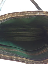 1970's Charles Jourdan Paris Emerald Green Exotic Leather Hand Bag - City Girl Barn Treasures