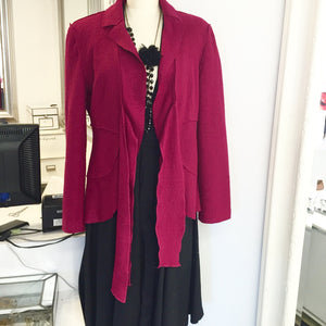 JMichaels Fuschia Wool Sweater Jacket  Sz M