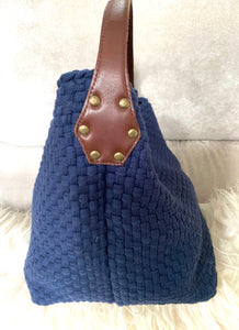 Aranaz Buslo Shoulder Hobo Tote  Bag Navy Blue - City Girl Barn Treasures