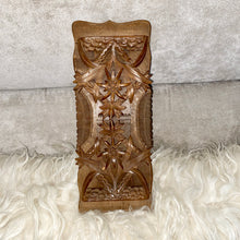 Antique Black Forest Carved Wood Expandable Book Holder 1800's to the early 1900's.  - City Girl Barn Treasures