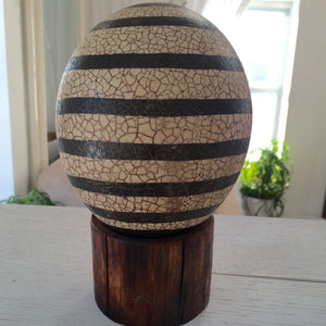 Hand Painted Ostrich Egg - City Girl Barn Treasures