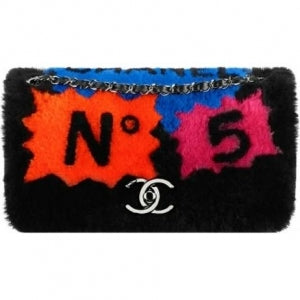 Chanel Shearling Pop Art Jumbo Flap