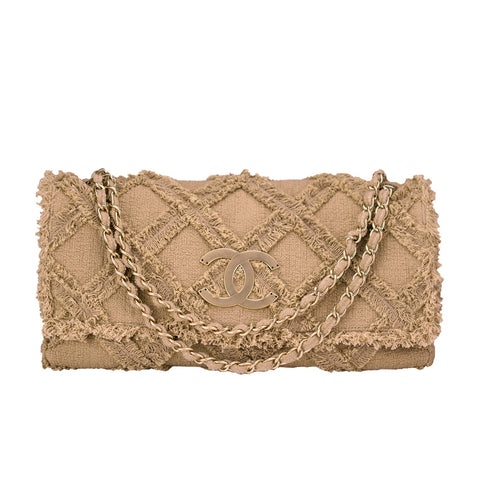 Chanel Tweed Crochet Flap Bag
