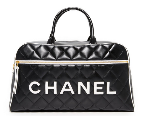 Chanel Boston Duffel Weeken Vintgae Tote as Seen on Bella Hadid