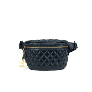 13a41ff3519b Chanel Navy Quilted Lambskin Vintage Fanny Pack – House of Carver