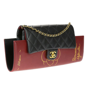 Chanel Burgundy Gabrielle Brasserie Menu Flap Clutch