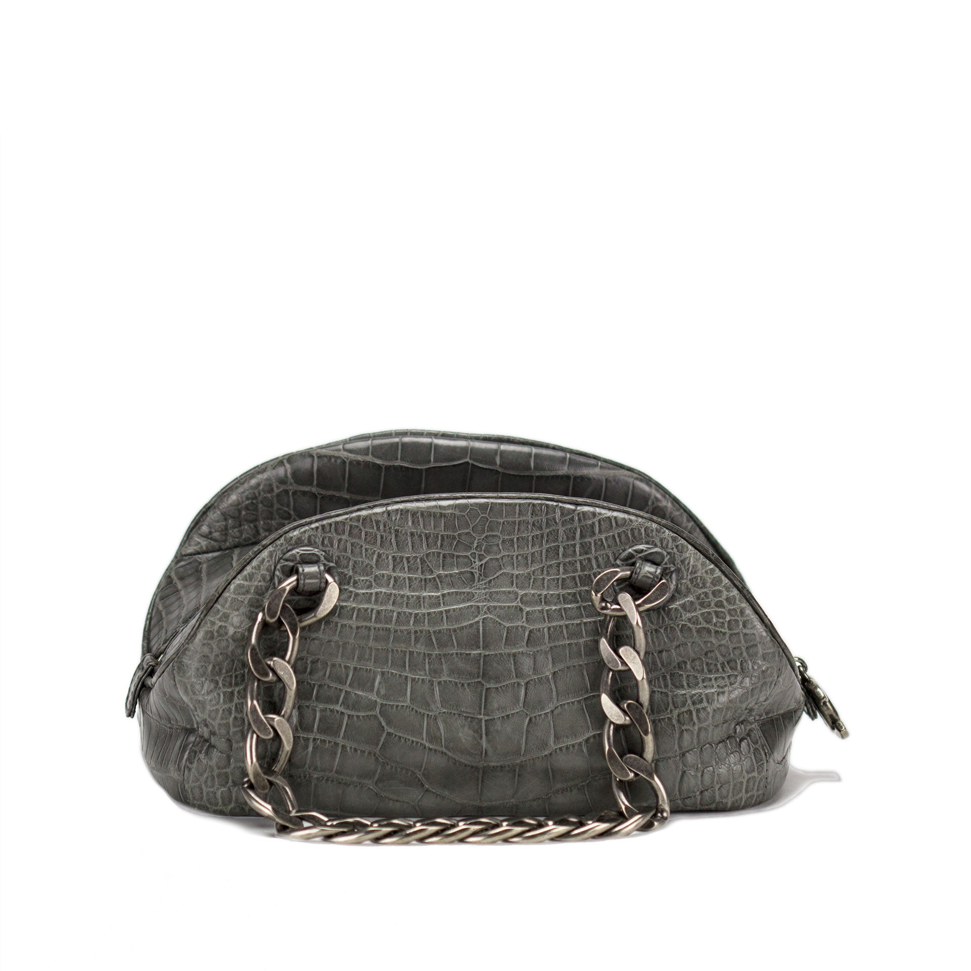 Chanel Grey PNY Crocodile Bowler