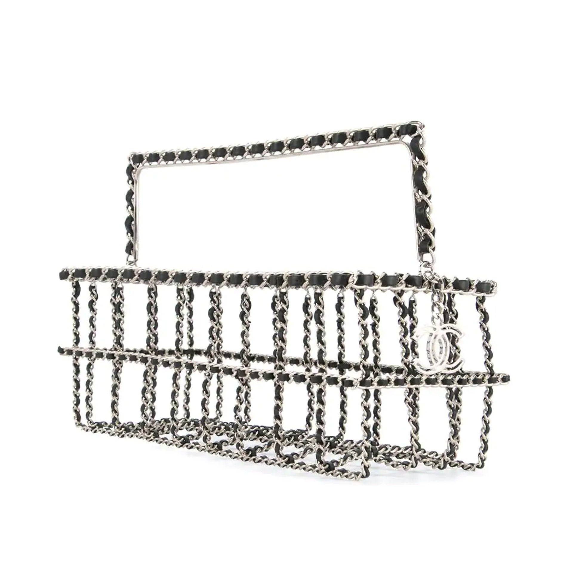 Chanel Runway Supermarket Grocery Basket Chain Tote