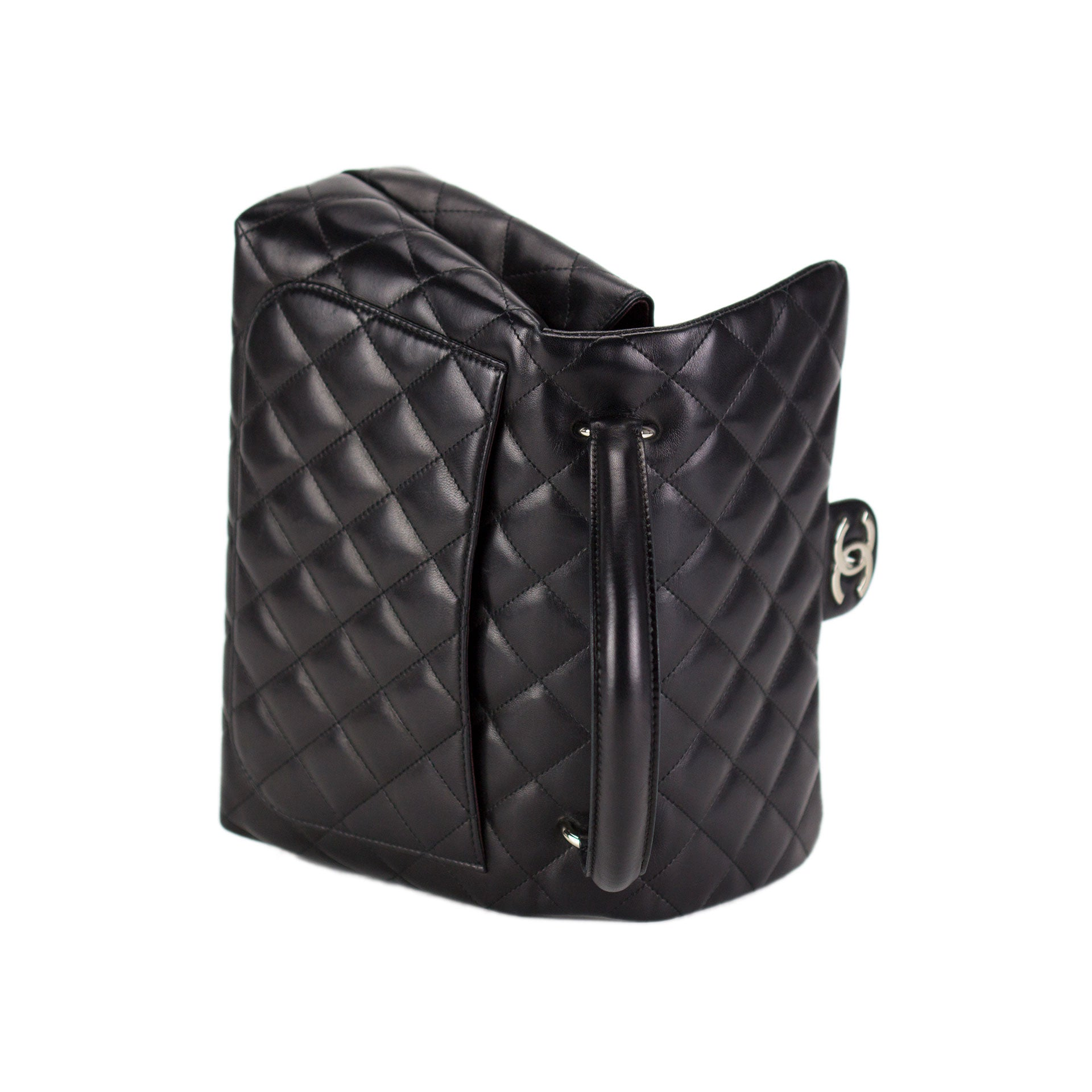 Chanel Top Handle Lambskin Flap
