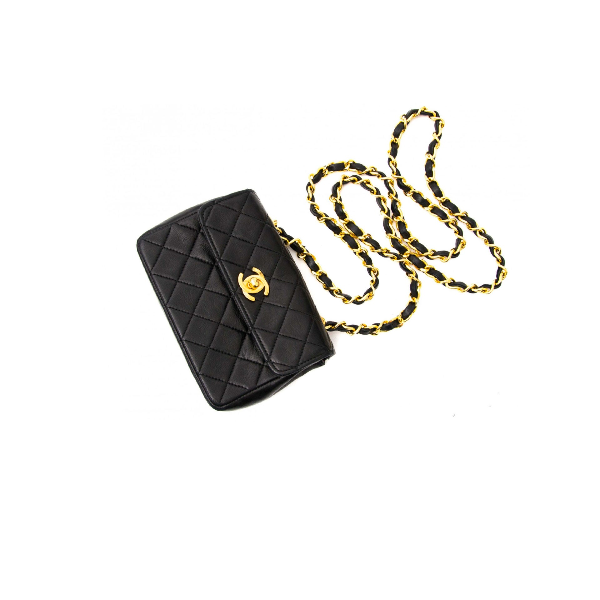 Chanel Mini Vintage Lambskin Crossbody Classic Flap Bag