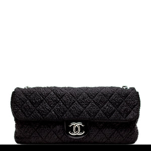 Chanel Nylon Texturized Plush Flap