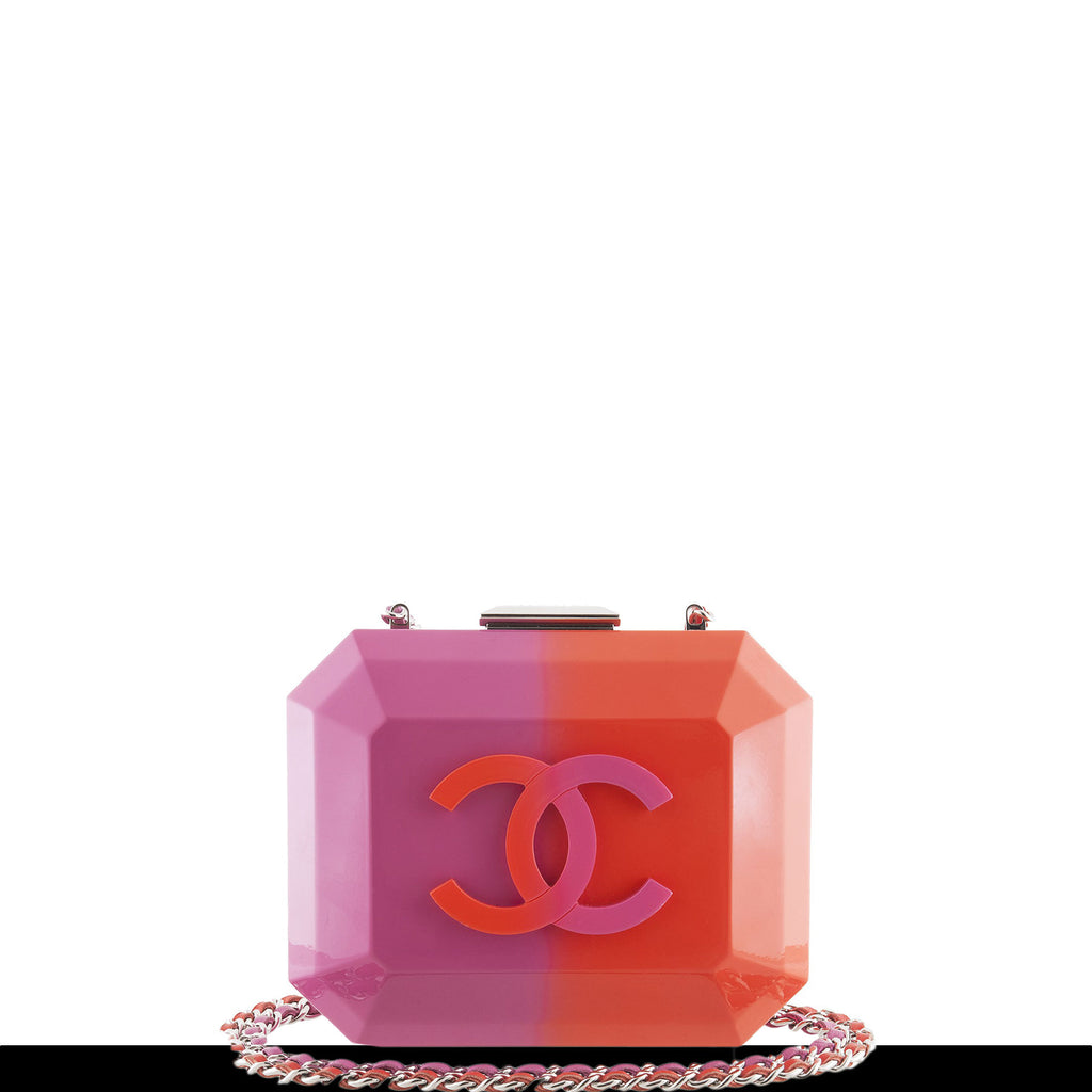 Chanel Ombre Pink Resin Plexiglass Minaudière Clutch