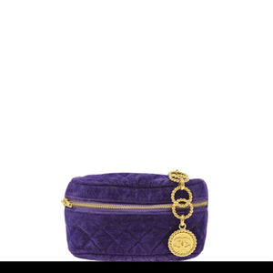 Chanel Regal Purple Rare Vintage 90's Velvet Quilted Medallion Fanny Pack
