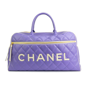 6e27062d9a37 Chanel Purple Vintage Overnight Duffel Bag – House of Carver