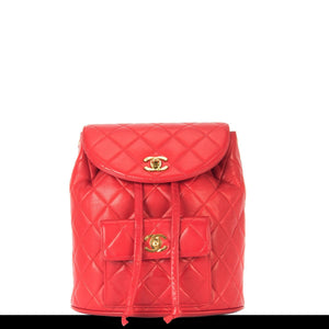 Ultra Rare Chanel Red Duma Vintage Backpack