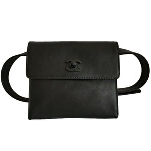 Chanel So Black Waist Belt Bag Fanny Pack