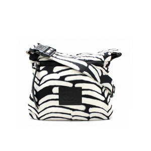 Chanel Vintage Black and White Crossbody Waist Bag