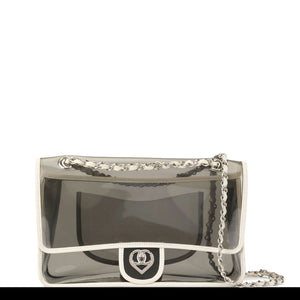 Chanel Transparent Medium Classic Heart Flap