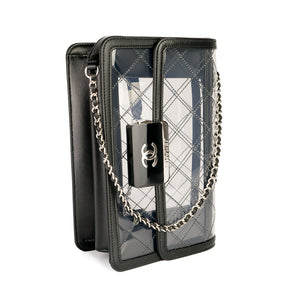 Chanel Naked Beauty Lock Transparent Flap Bag