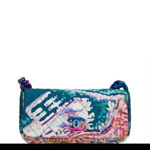 Chanel Watercolor Graffiti Flap