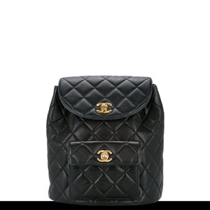 Chanel Lambskin Quilted Vintage Backpack