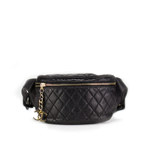 Chanel Vintage Lambskin Quilted  Fanny Pack