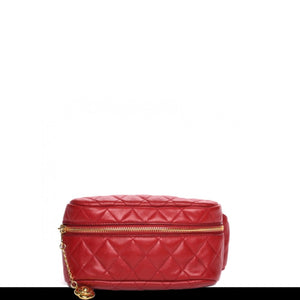 Chanel Red Lambskin Vintage Waist Bag Fanny Pack