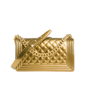 Chanel Gold Metallic Boy Bag