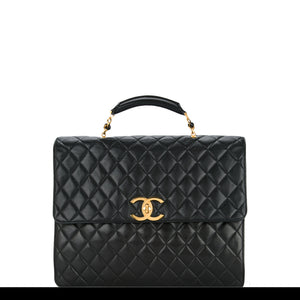 Chanel Quilted Lambskin Extra Large Briefcase