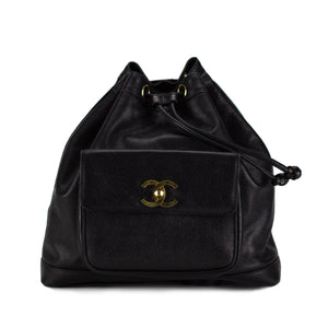 Chanel Caviar Drawstring CC Pocket Backpack