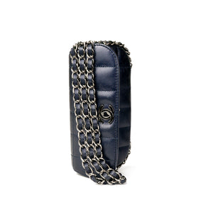 Chanel Chain Around Mini Dark Navy Clutch Flap