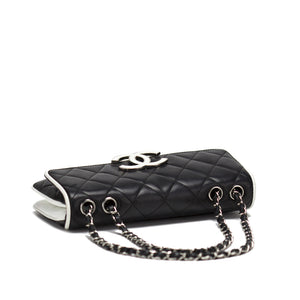 Chanel Black and White Medium Cruise Flap