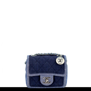 Chanel Denim Medallion Mini Classic Flap