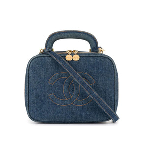 Chanel Denim Vintage Vanity Case Crossbody